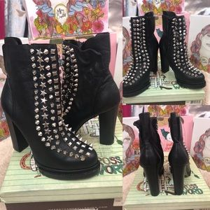 Jeffrey Campbell Leather Studded Boots🖤
